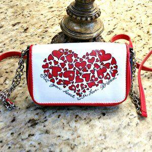 BRIGHTON Hearts & Love Mini Baguette Crossbody Bag